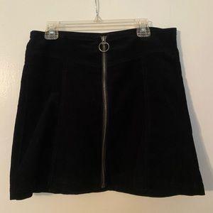 navy zip up skirt